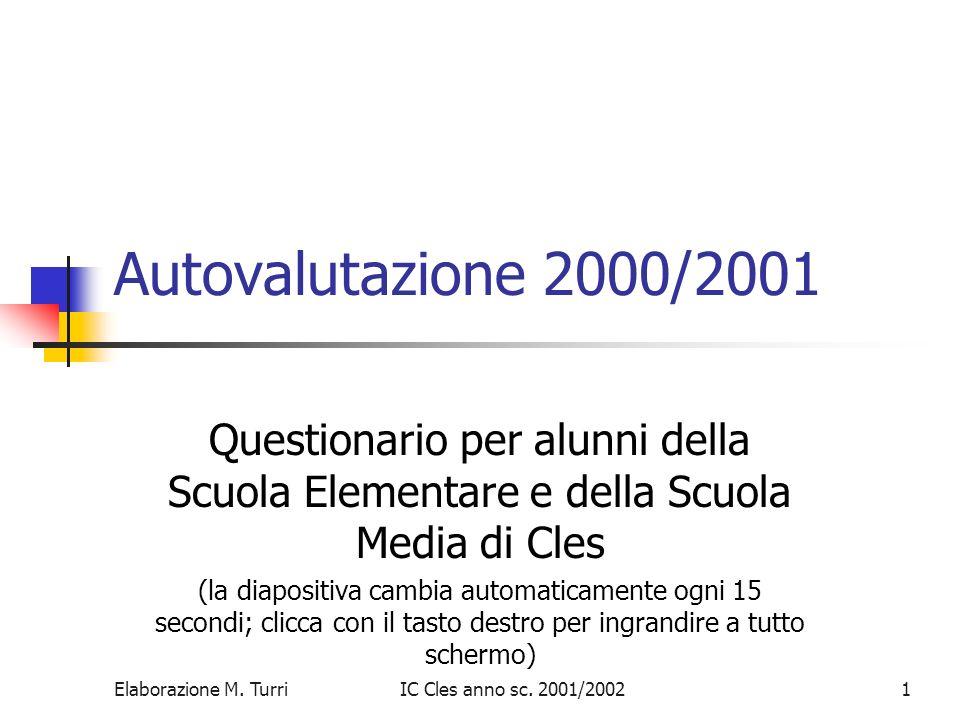 Elaborazione M.TurriIC Cles anno sc. 2001/20022 Quanto sono soddisfatto.