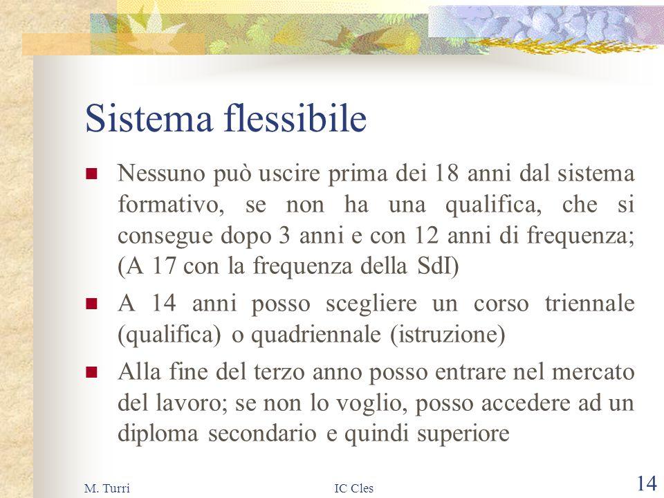 M. TurriIC Cles 13 Scuola & Lavoro Potenziamento dei percorsi in alternanza scuola/lavoro In Italia solo 1 giovane su 100 tra i 16 e 19 anni è coinvol