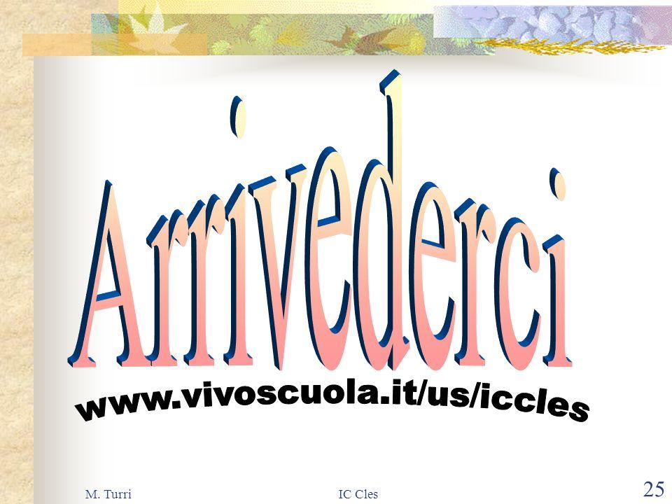 M. TurriIC Cles 24 Entro il 19 gennaio 2002 Iscrizione Richiesta trasporto Opzione per la Religione Cattolica Eventuali problemi sanitari per esonero