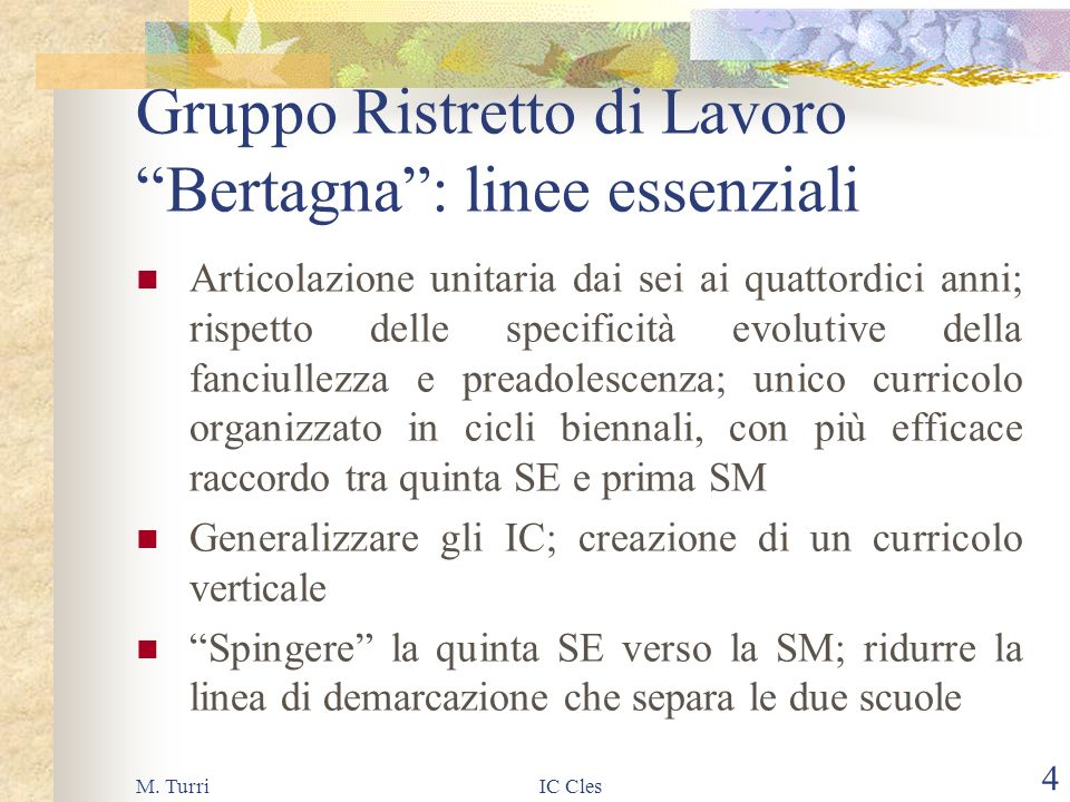 M. TurriIC Cles 3 Perché lAutonomia.