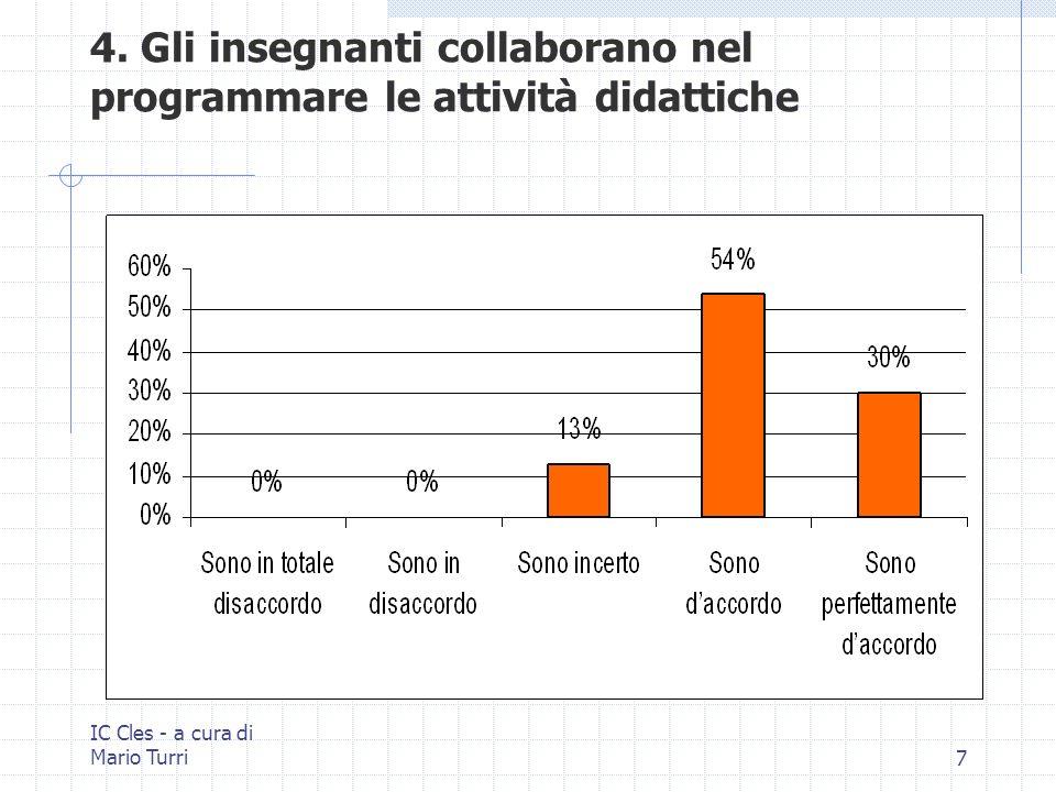 IC Cles - a cura di Mario Turri28 25. Il personale non docente è coinvolto nella vita della scuola.
