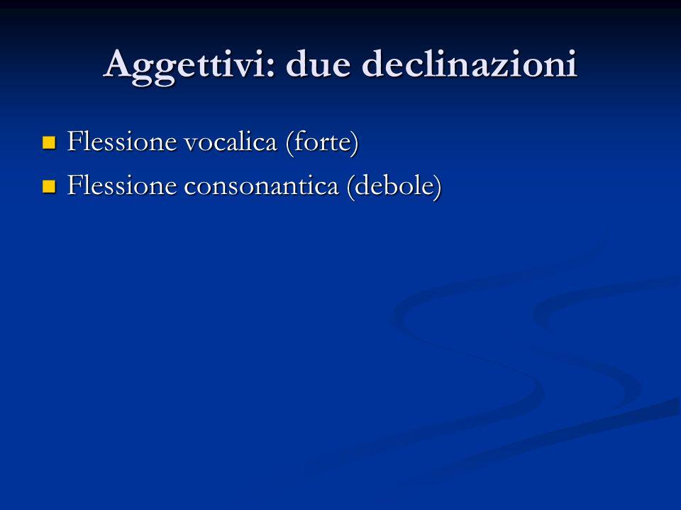 Verbi Due classi: Due classi: Classe verbi deboli Classe verbi deboli Classe verbi forti Classe verbi forti Verbi preterito - presenti Verbi preterito - presenti