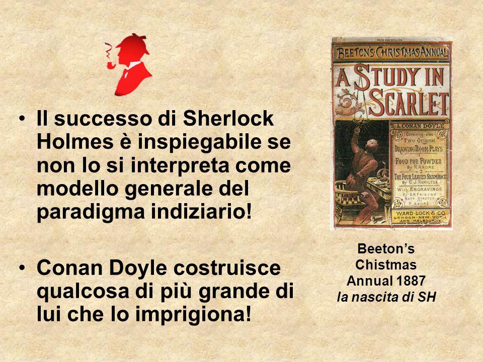 Il successo di Sherlock Holmes è inspiegabile se non lo si interpreta come modello generale del paradigma indiziario.