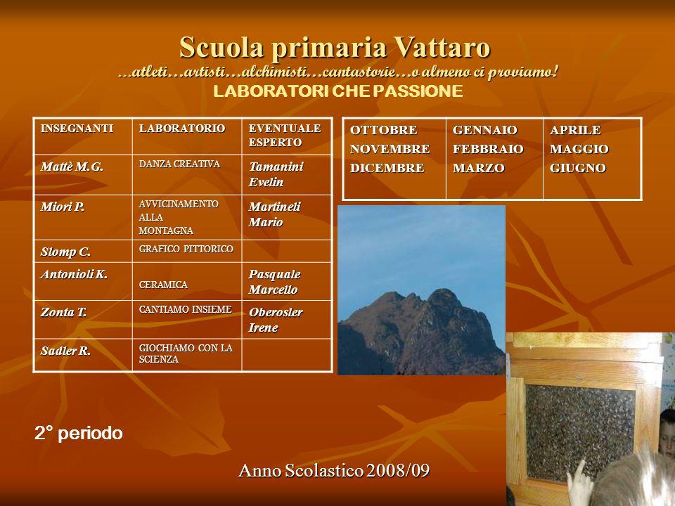 Scuola primaria Vattaro Anno Scolastico 2008/09 … atleti…artisti…alchimisti…cantastorie…o almeno ci proviamo! … atleti…artisti…alchimisti…cantastorie…
