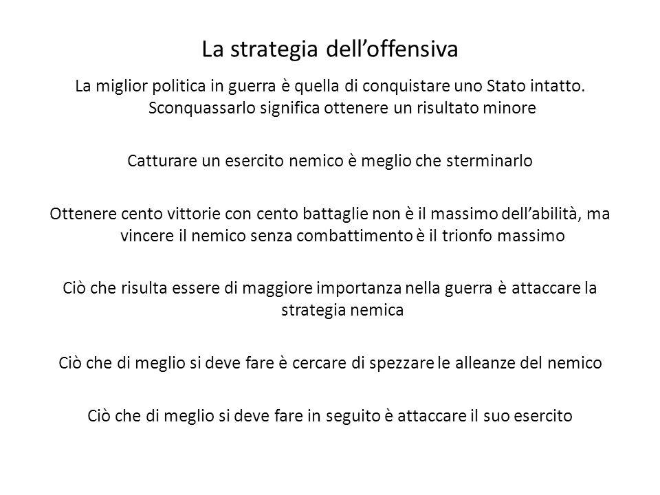 La strategia delloffensiva La miglior politica in guerra è quella di conquistare uno Stato intatto.