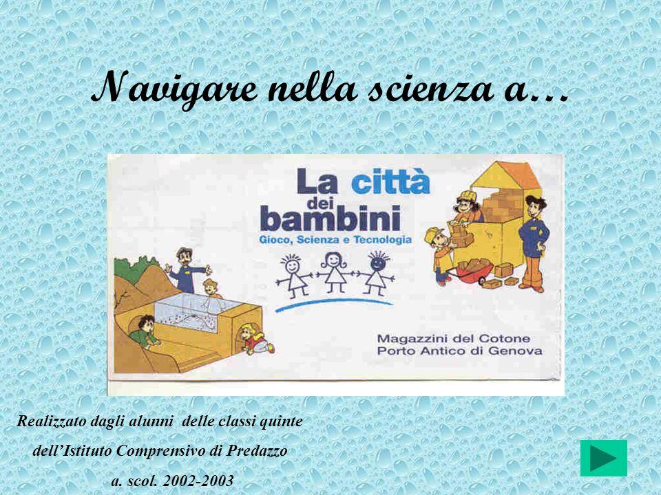 Navigare nella scienza a… Realizzato dagli alunni delle classi quinte dellIstituto Comprensivo di Predazzo a. scol. 2002-2003