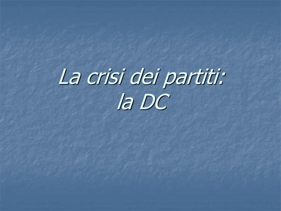 La crisi dei partiti: la DC