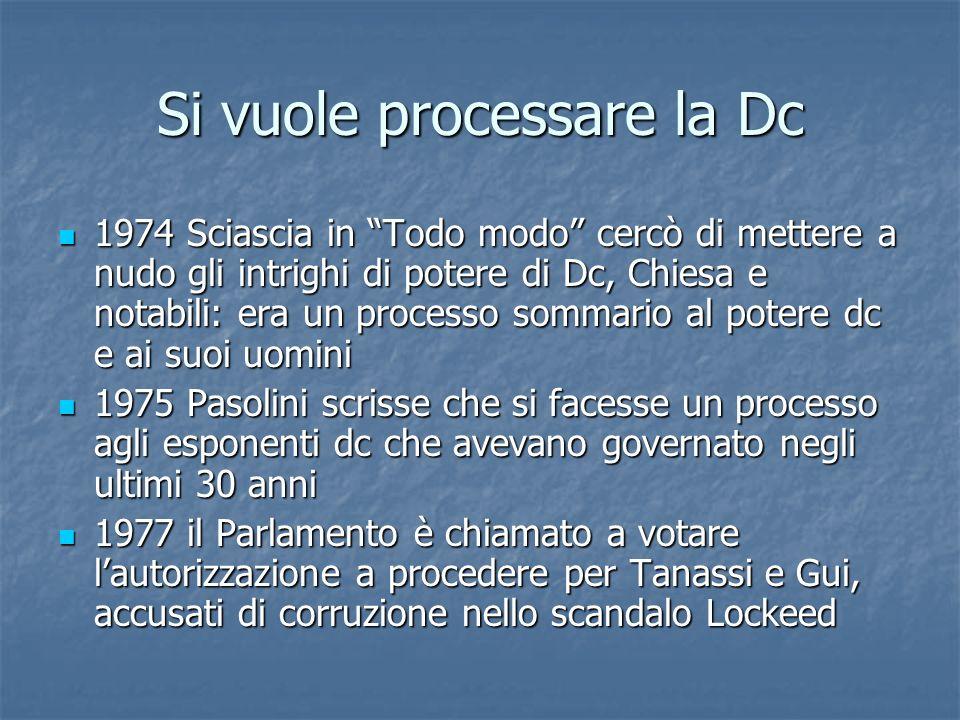 Si vuole processare la Dc 1974 Sciascia in Todo modo cercò di mettere a nudo gli intrighi di potere di Dc, Chiesa e notabili: era un processo sommario