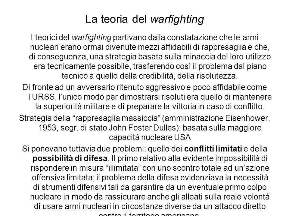 La teoria del warfighting B.