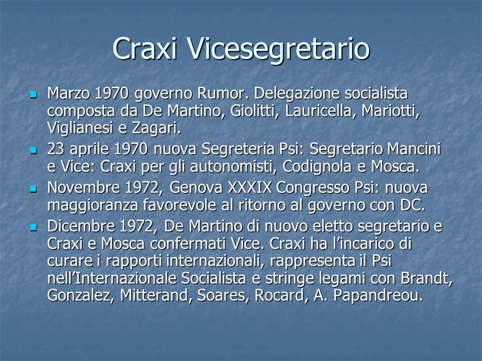Craxi Vicesegretario Marzo 1970 governo Rumor. Delegazione socialista composta da De Martino, Giolitti, Lauricella, Mariotti, Viglianesi e Zagari. Mar