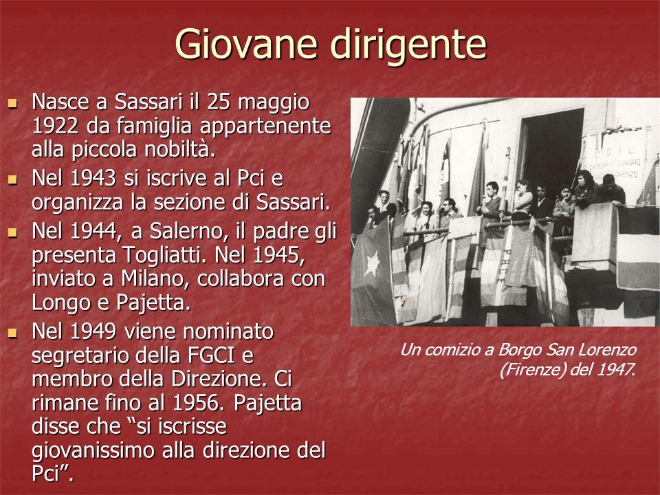 Giovane dirigente Nasce a Sassari il 25 maggio 1922 da famiglia appartenente alla piccola nobiltà. Nasce a Sassari il 25 maggio 1922 da famiglia appar