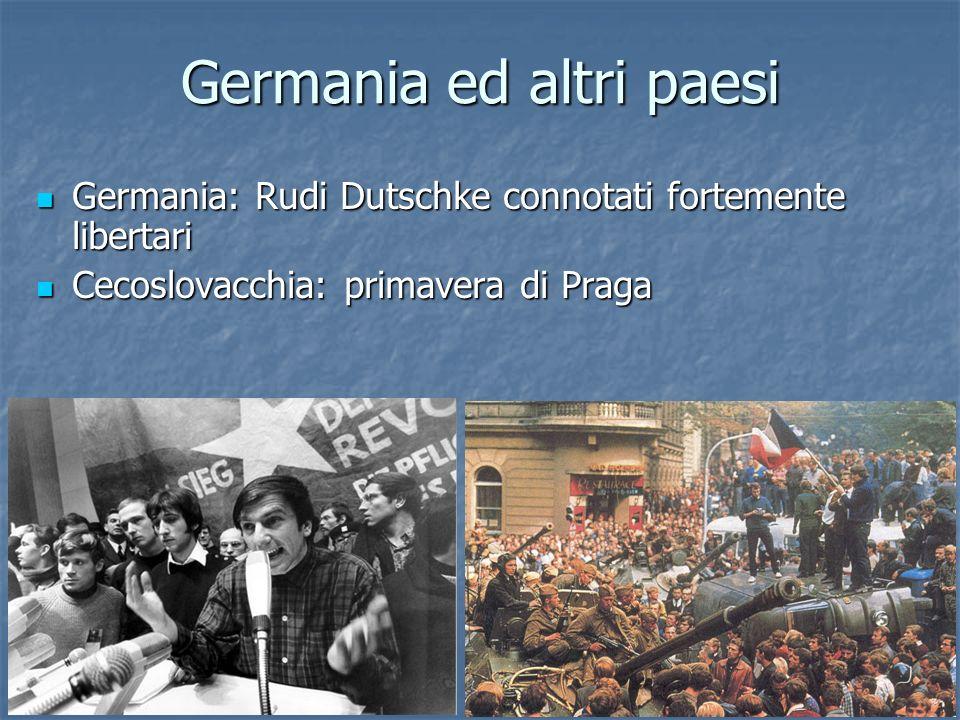 Germania ed altri paesi Germania: Rudi Dutschke connotati fortemente libertari Germania: Rudi Dutschke connotati fortemente libertari Cecoslovacchia: