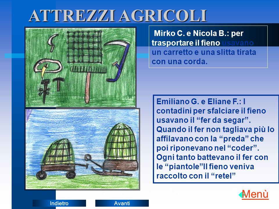 AvantiIndietroATTREZZI AGRICOLI Documentazione di supporto Mirko C.