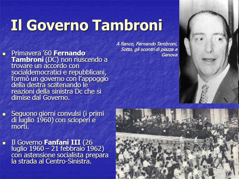 Verso il Centro-Sinistra Gennaio 62 Al Congresso di Napoli della DC la relazione di Moro è favorevole al Centro-Sinistra.