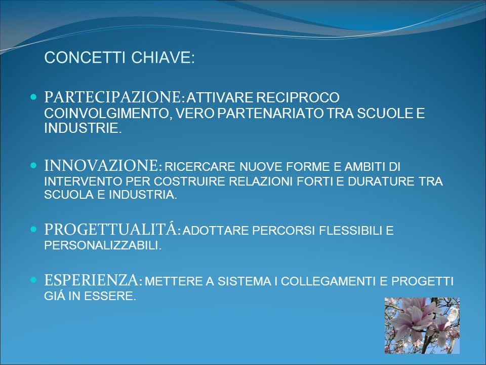 ESPERIENZE DI SCUOLA E INDUSTRIA IN PROVINCIA DI TRENTO NELL ANNO SCOLASTICO 2008/9.
