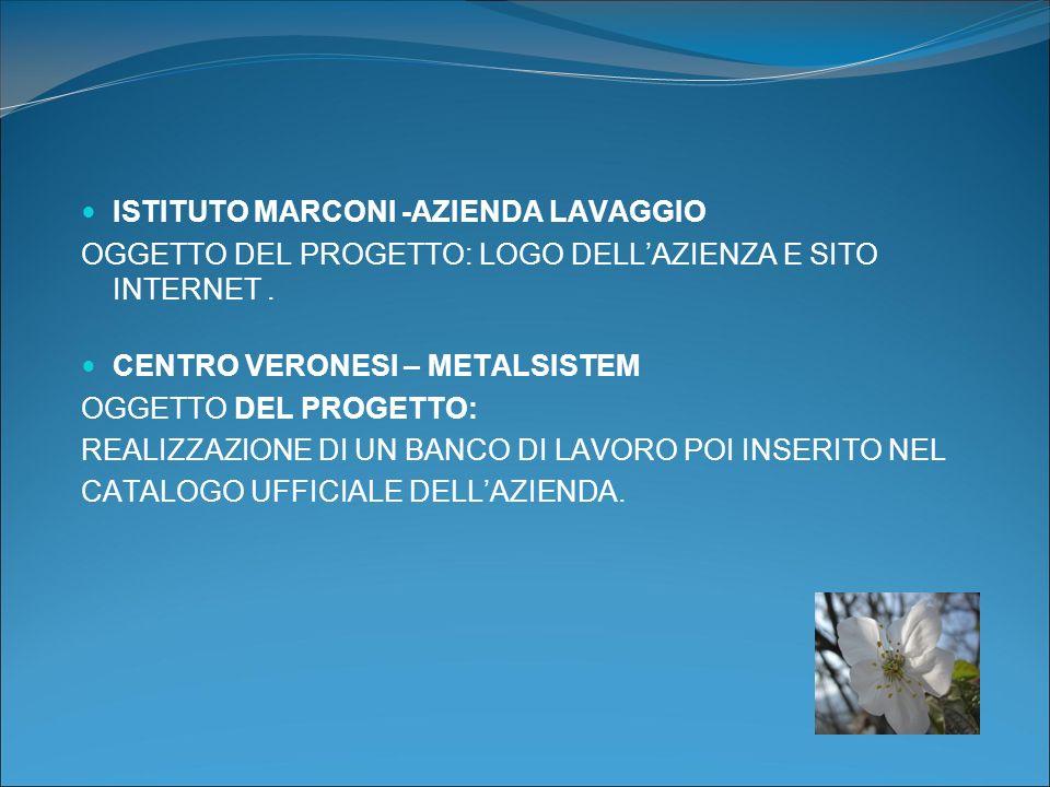 ISTITUTO MARCONI -AZIENDA LAVAGGIO OGGETTO DEL PROGETTO: LOGO DELLAZIENZA E SITO INTERNET.