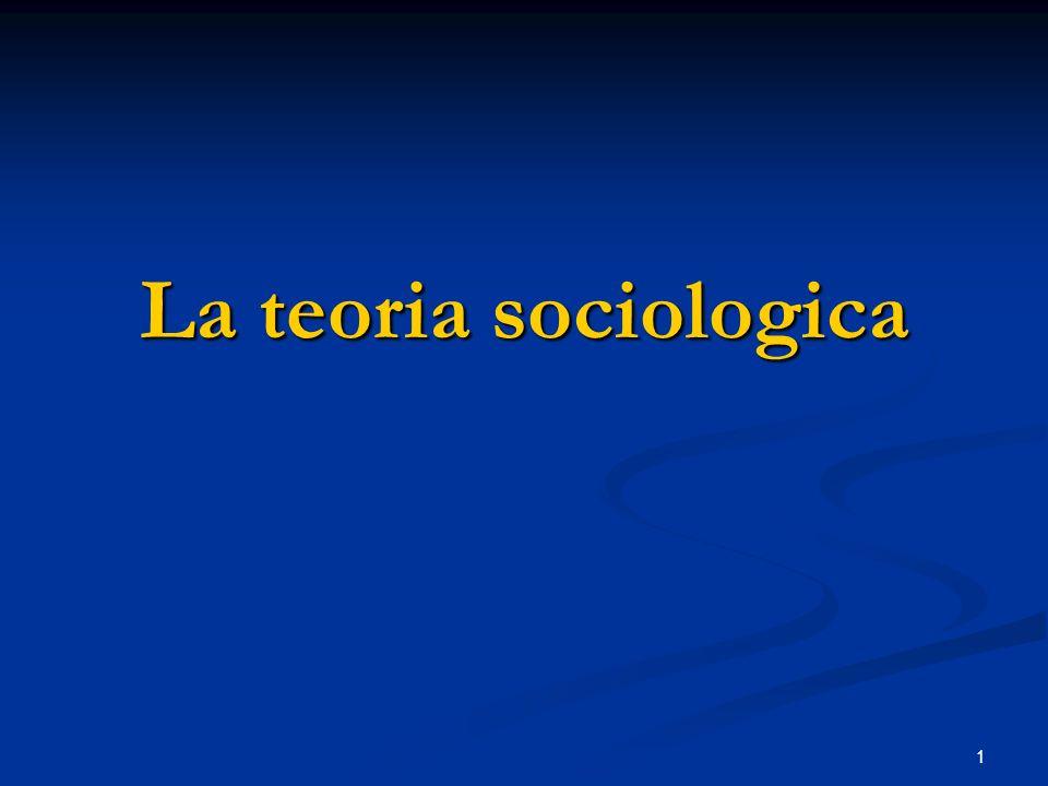 1 La teoria sociologica