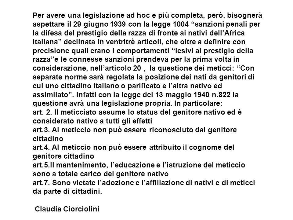 Per avere una legislazione ad hoc e più completa, però, bisognerà aspettare il 29 giugno 1939 con la legge 1004 sanzioni penali per la difesa del pres