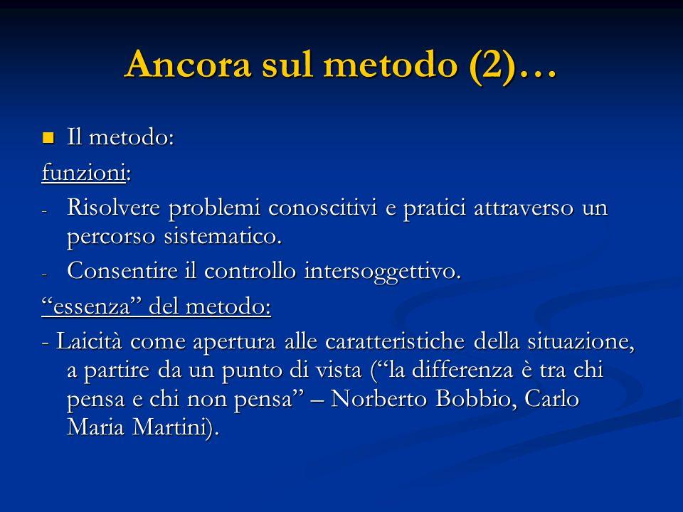 Due approcci metodologici allo studio dei fenomeni sociali A) Primato della spiegazione (Cause): meccanismi extra-soggettivi agiscono sugli attori (positivismo e neo-positivismo).