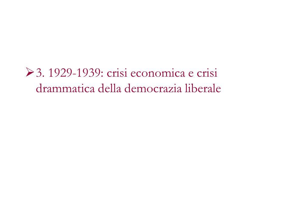 Unaltra grande trasformazione della società industriale (il capitalismo diretto) Non è questa volta una rivoluzione, ma una crisi Di nuovo, un classico avvenimento : Giovedì nero, 24 settembre 1929 Crisi cicliche e crisi strutturale: Sopravvalutazione dei titoli in borsa, speculazione eccessiva I tecnici: incidente, il mercato, la prosperità tornerà (Hoover)