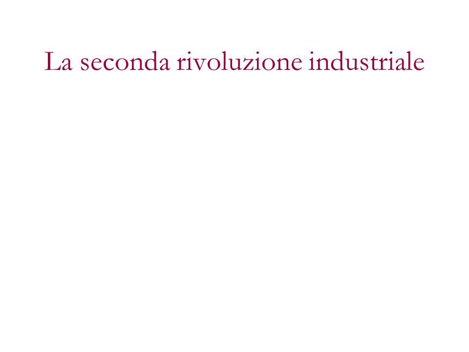 ultimi 30 anni XIX secolo estensione mondiale rivoluzione tecnologica e scientifica (Edison, Siemens, Bell, Dunlop, Bayer, Diesel) rivoluzione nelle dimensioni dellindustria rivoluzione nei rapporti economici internazionali (USA e Germania raggiungono la GB)