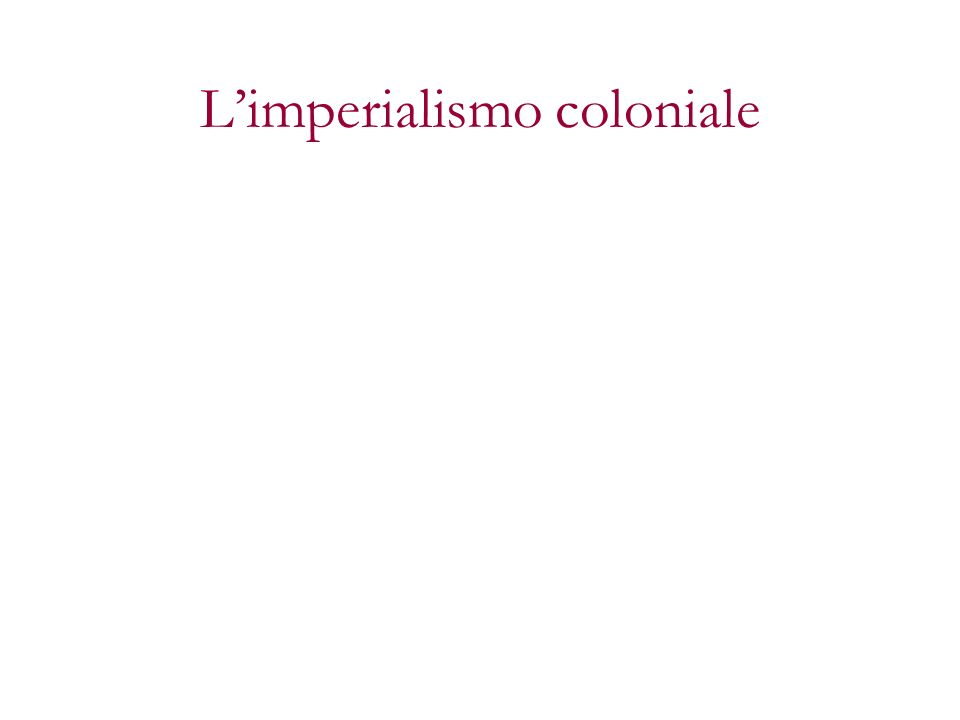 Limperialismo coloniale