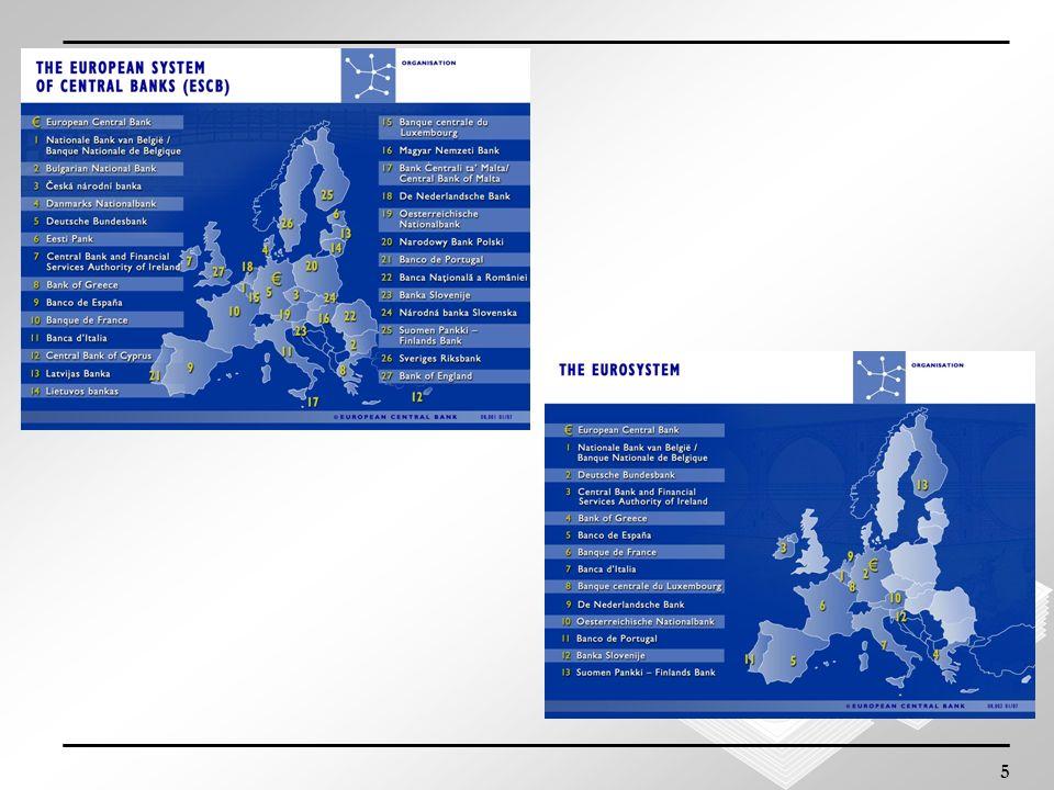 6 BCE E SEBC Il Sistema europeo di banche centrali (SEBC) è composto dalla Banca centrale europea (BCE) e dalle banche centrali nazionali degli Stati membri dellUnione europea (Art.