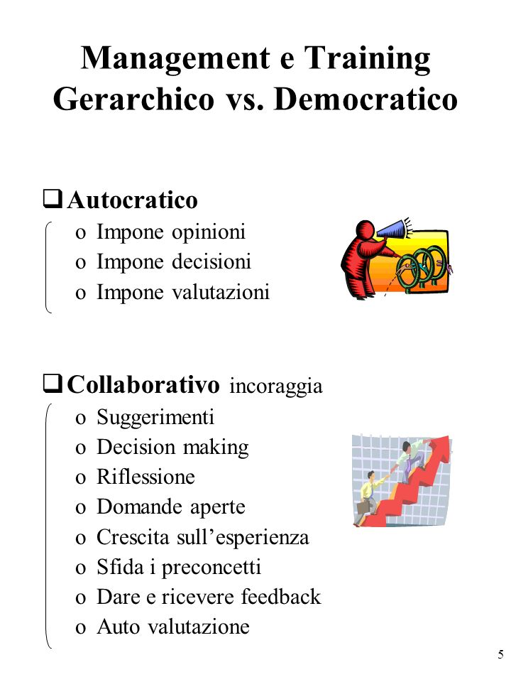5 Management e Training Gerarchico vs.