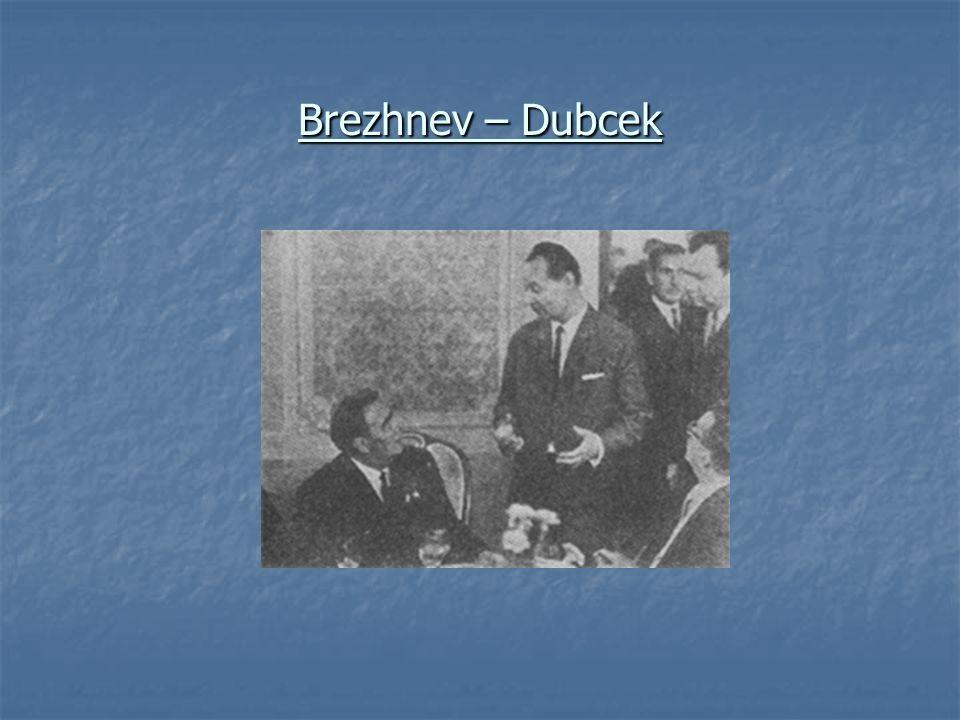 Brezhnev – Dubcek
