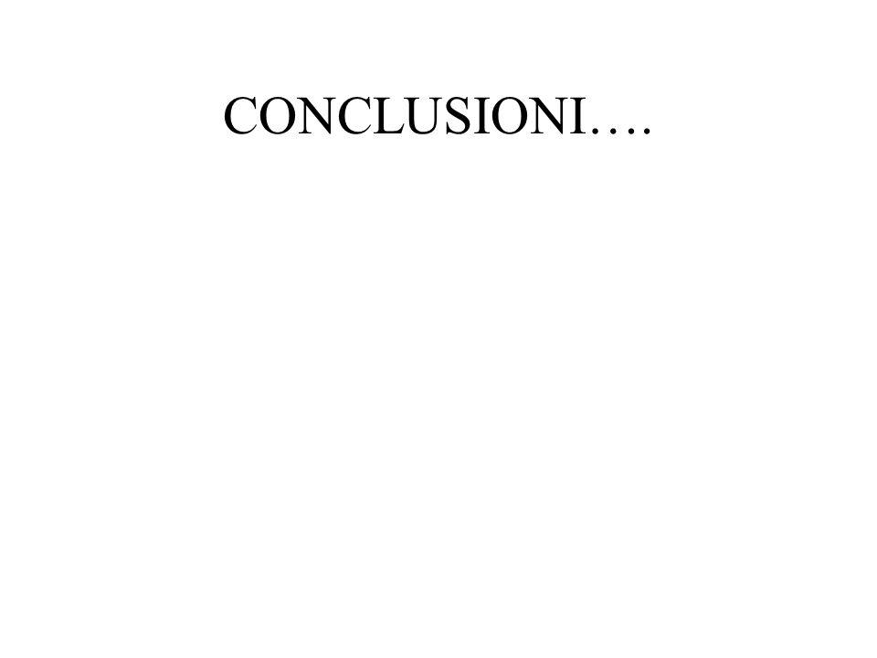 CONCLUSIONI….