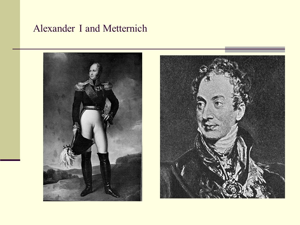 Alexander I and Metternich