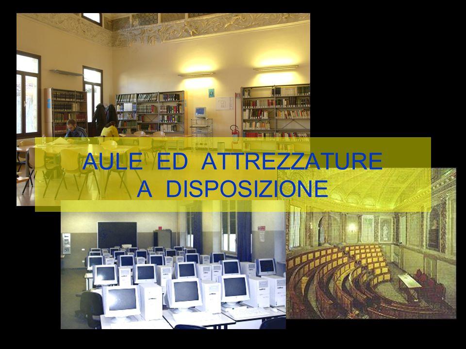 AULE ED ATTREZZATURE A DISPOSIZIONE