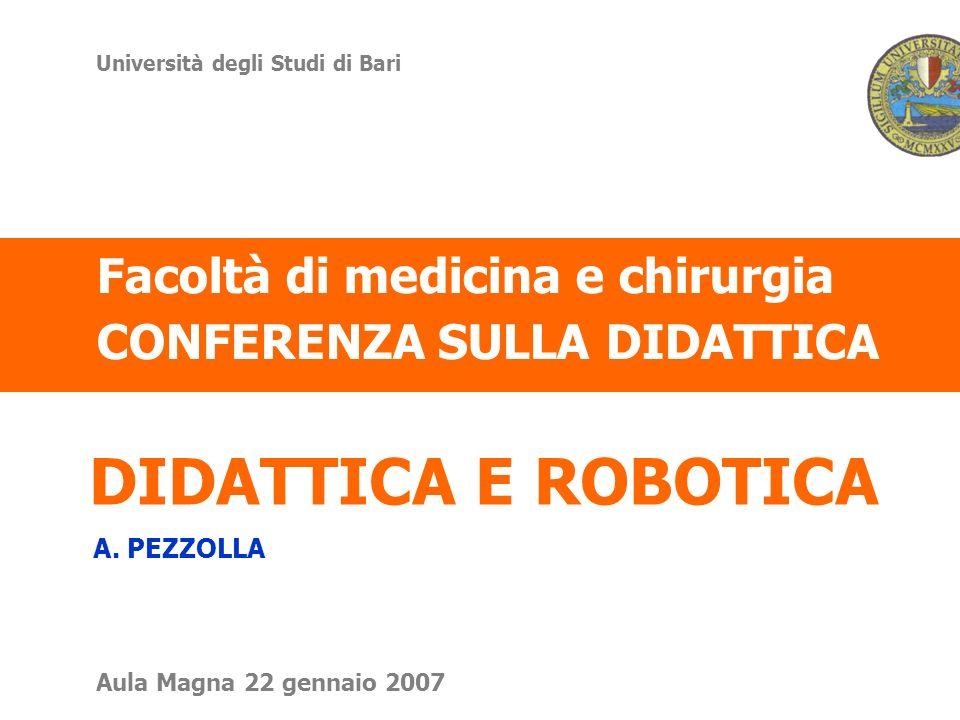 DIDATTICA E ROBOTICA A.