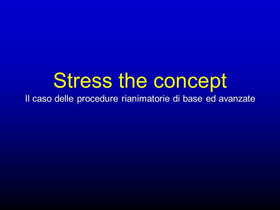 Stress the concept Il caso delle procedure rianimatorie di base ed avanzate
