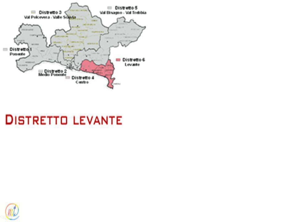 I distretti sanitariI distretti sanitari / Distretto levante (Distretto socio sanitario n. 13)