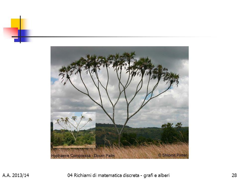 A.A. 2013/1404 Richiami di matematica discreta - grafi e alberi28