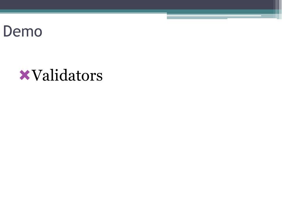 Demo Validators