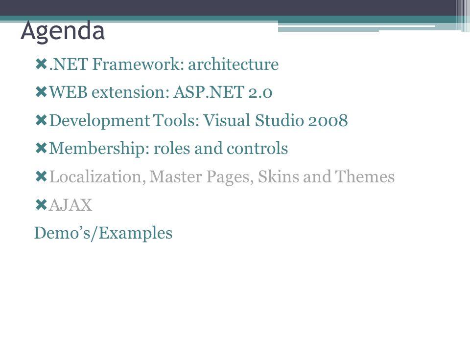 ASP.NET AJAX Futures CTPs Estende la piattaforma core Richiede le ASP.NET 2.0 AJAX Extensions 1.0 Aggiunge funzionalità Drag-and-Drop XML Script etc