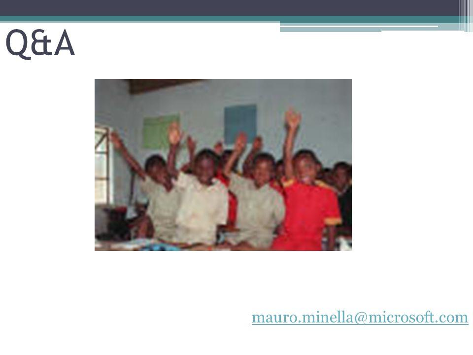 Q&A mauro.minella@microsoft.com