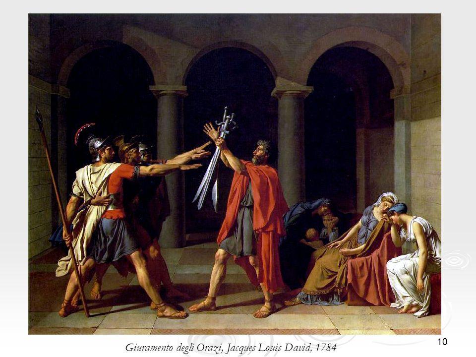 10 Giuramento degli Orazi, Jacques Louis David, 1784