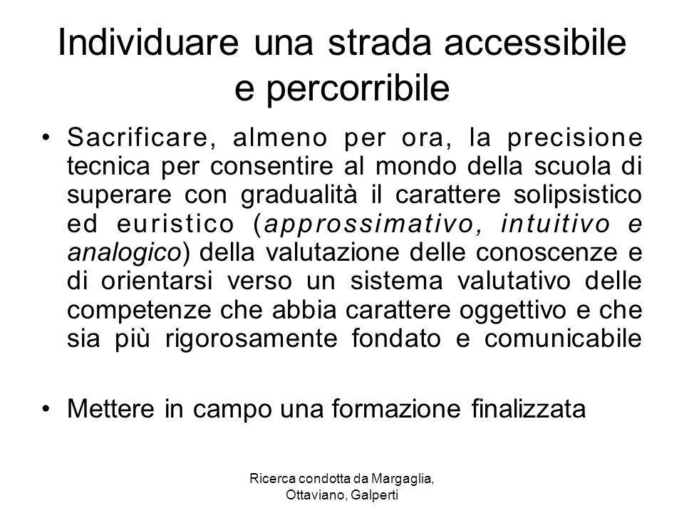 Ricerca condotta da Margaglia, Ottaviano, Galperti Individuare una strada accessibile e percorribile Sacrificare, almeno per ora, la precisione tecnic
