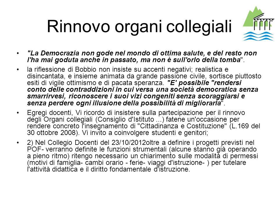 Rinnovo organi collegiali