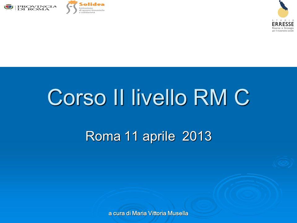 a cura di Maria Vittoria Musella Corso II livello RM C Roma 11 aprile 2013