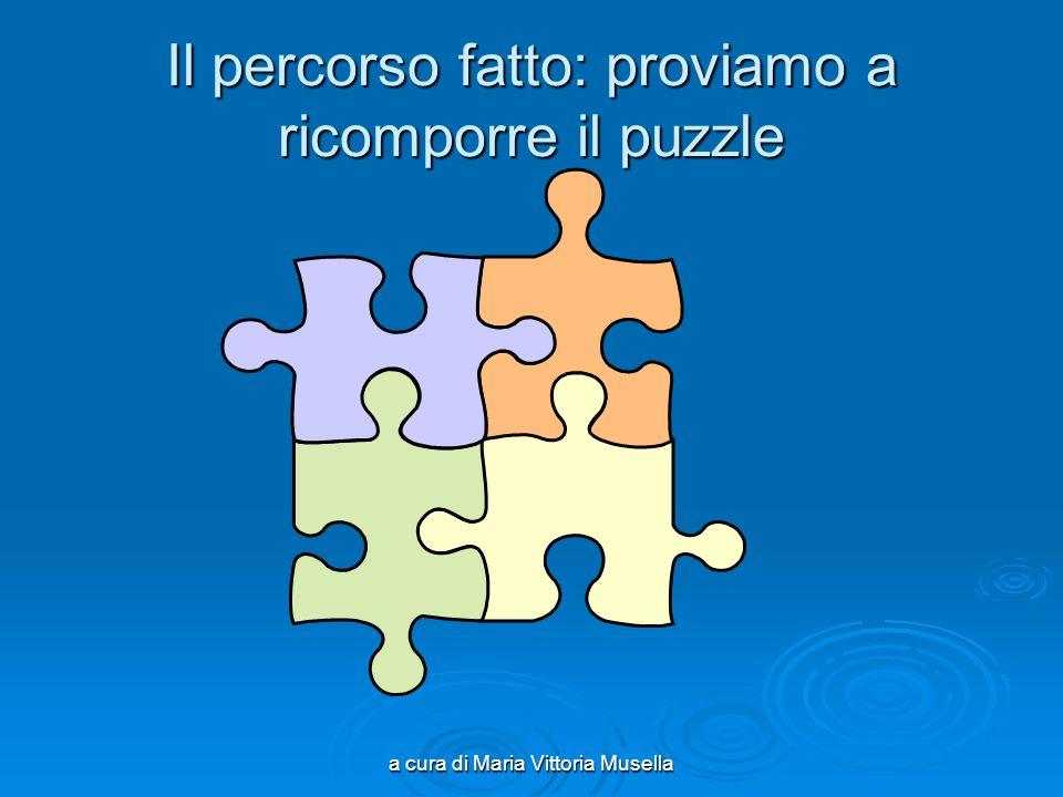 a cura di Maria Vittoria Musella Il percorso fatto: proviamo a ricomporre il puzzle