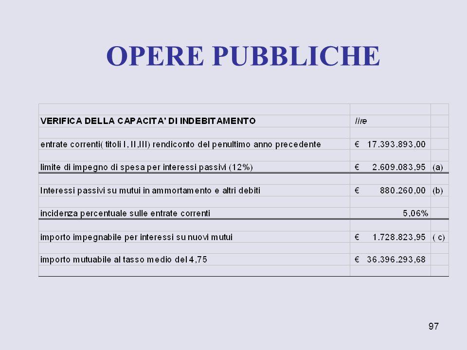 97 OPERE PUBBLICHE