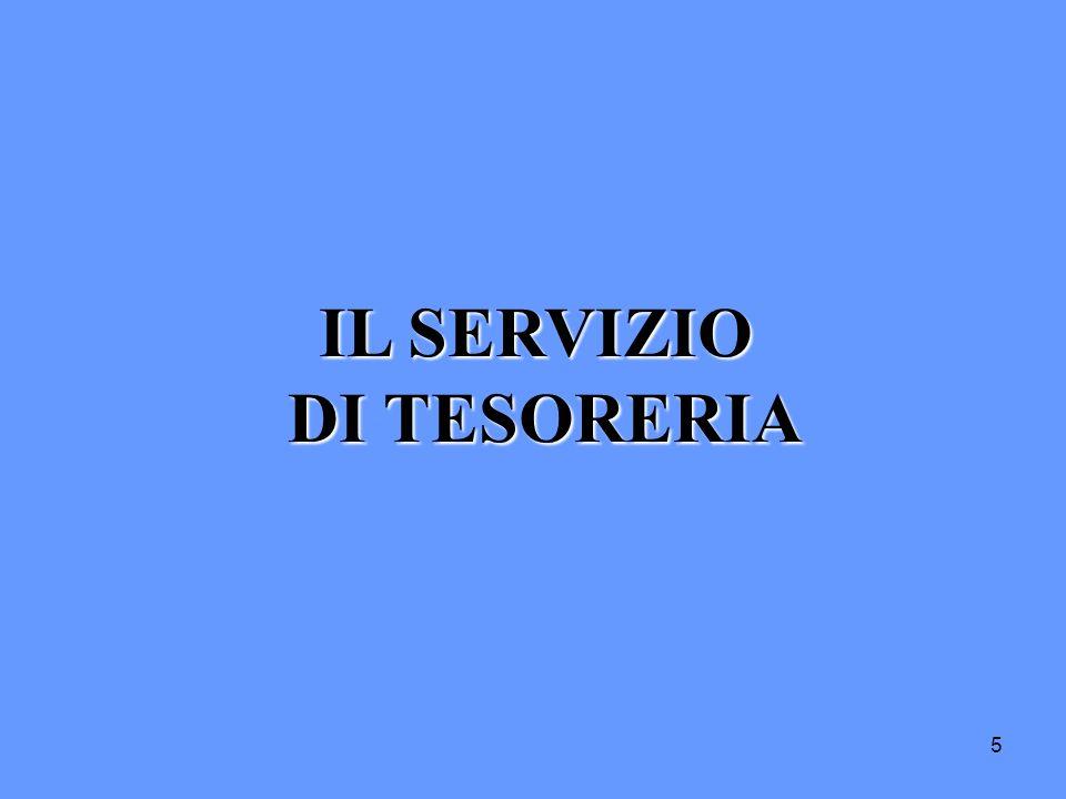 5 IL SERVIZIO DI TESORERIA