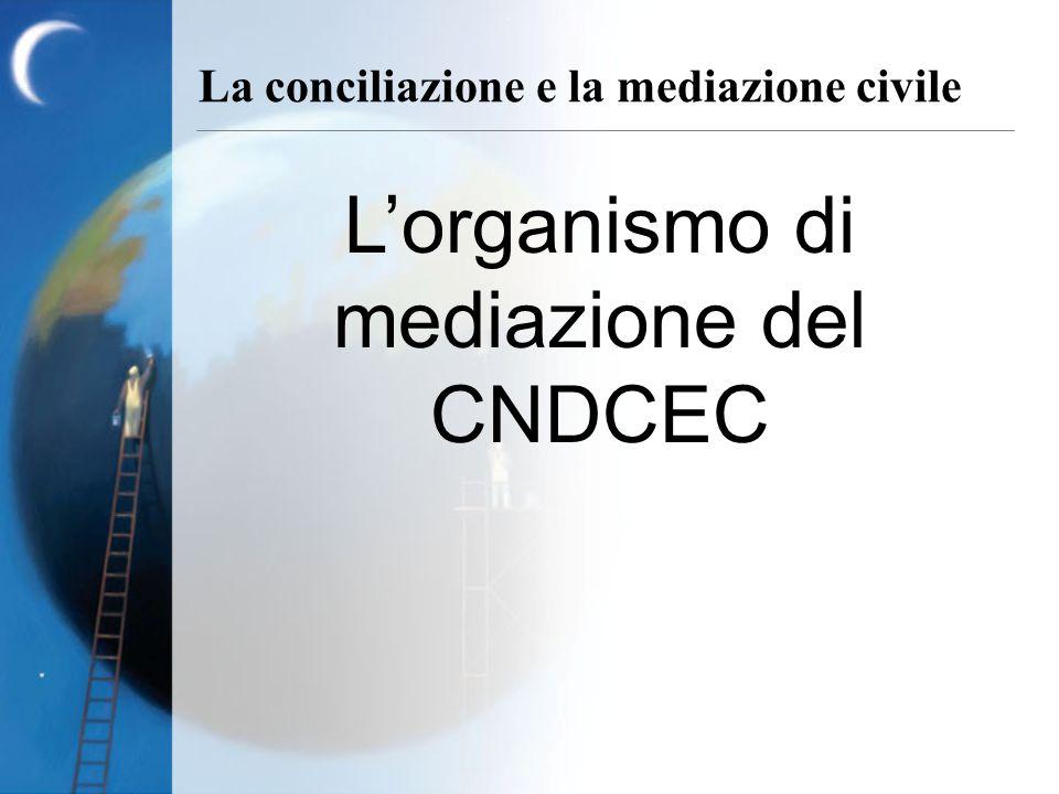 La conciliazione e la mediazione civile Lorganismo di mediazione del CNDCEC