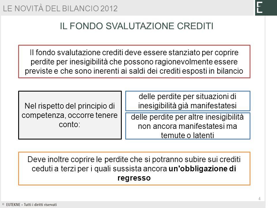 Il fondo svalutazione crediti deve essere stanziato per coprire perdite per inesigibilità che possono ragionevolmente essere previste e che sono inere