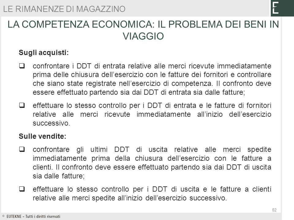 Sugli acquisti: confrontare i DDT di entrata relative alle merci ricevute immediatamente prima delle chiusura dellesercizio con le fatture dei fornito