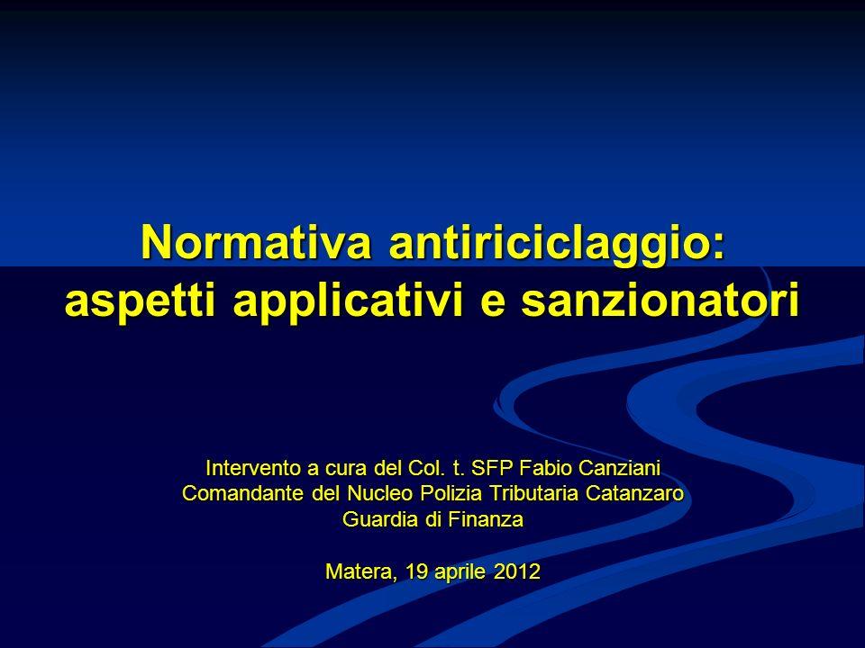 22 RIPARTIZIONE DELLE SEGNALAZIONI PER CATEGORIA DI SOGGETTO OBBLIGATO ( AGGIORNATI AD ANNO 2008) TIPO SEGNALANTE VECCHIE CATEGORIE NUM.